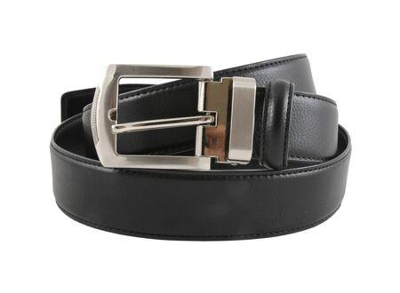 Black belt for men isolated on  white background