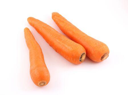 Carrots on white backgroud