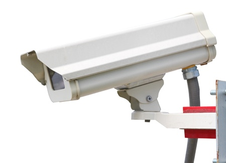CCTV security camera isolated on white background Stock Photo - 11172471