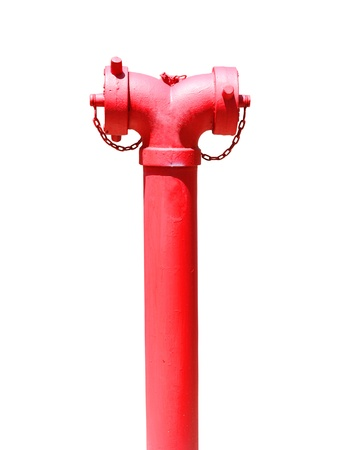 Image of red fire hydrant on white background Stock Photo