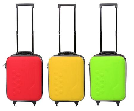image of three traveler bag on white background Stock Photo