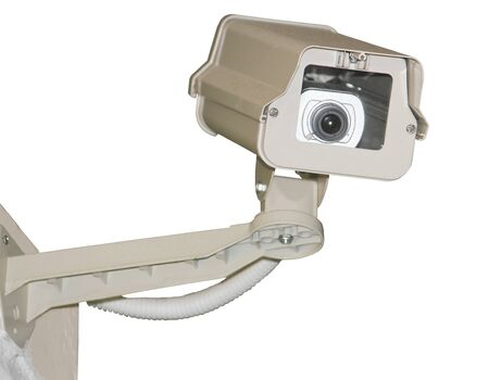CCTV security camera on white background  photo