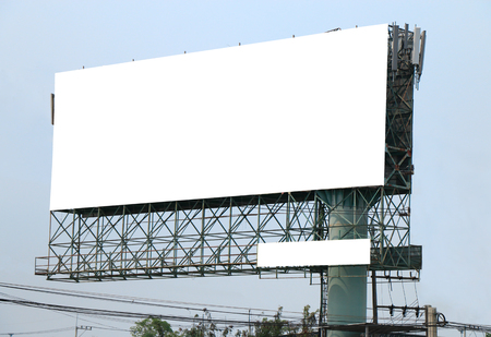 image of big blank billboard outdoor beside the highway Stock Photo