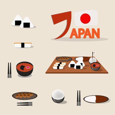 japanese foods: design of Japanese foods