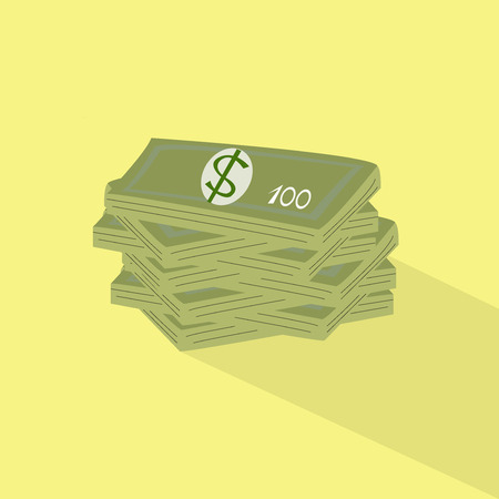 one colour: money concept Illustration