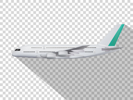 concept design of vector,concept design of plane,plane on the transparent background,model of plane,cute design of plane. Stock Illustratie