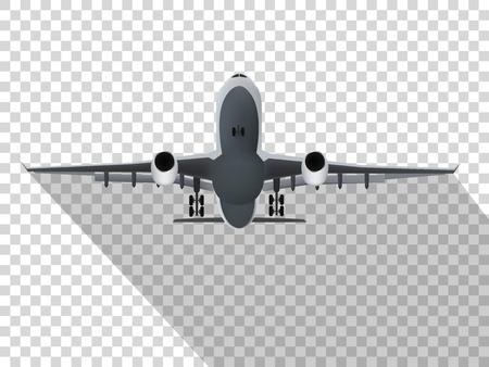 Plane on the transparent background,concept of plane,vector illustration.
