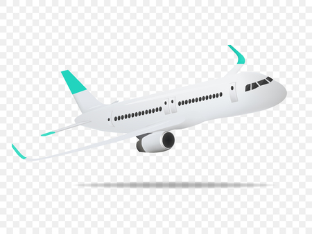 Aircraft, airplane, airliner on the transparent background,concept of plane,vector illustration.