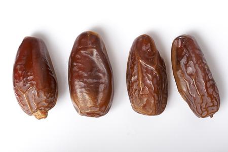 dates fruit isolated on white background
