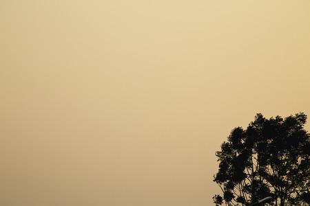 Sun sets sky cloudless photo