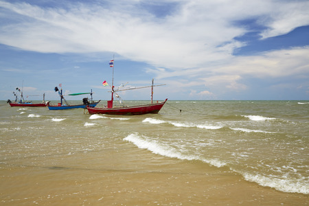 folkways: Small fishing boats in the sea. Stock Photo
