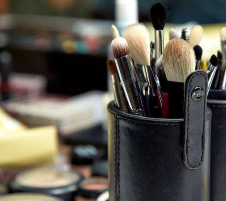 makeup brushes: makeup Brushes Stock Photo