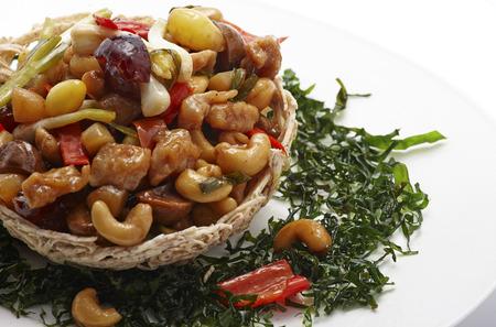 pao: kung pao,Thai food. Stock Photo