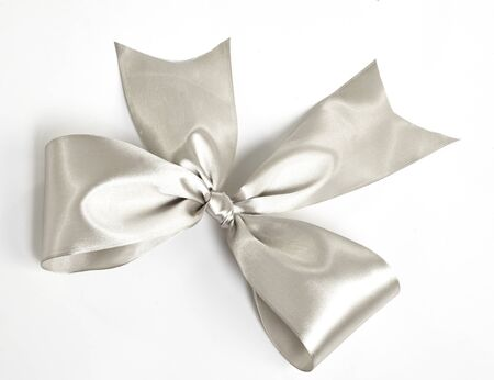 silver ribbon: Silver ribbon isolated on white