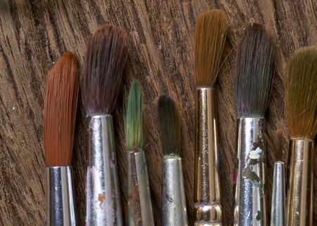 used: Paint brushes used