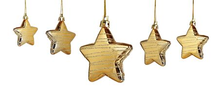 christmas star isolated on white background
