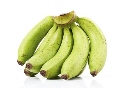 bundle: green banana bundle on a white background