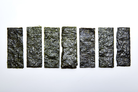 nori: Japanese food nori dry seaweed
