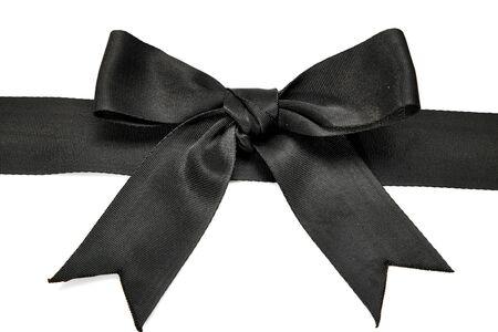black ribbon bow: black ribbon bow isolated on white background