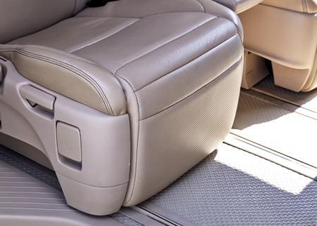 headrest: Leather car seat