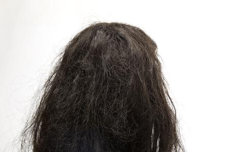 black hair: Black hair, bad. Background Stock Photo