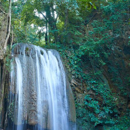 water fall: Arawan Waterfall in kanchanaburi Thailand