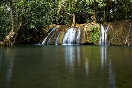 lao: Wat Saparn Lao Waterfall, kanchanaburi in thailand