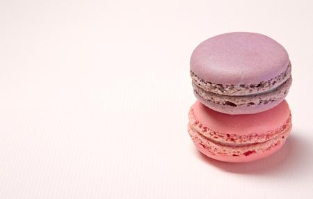 macarons: purple, pink, macarons