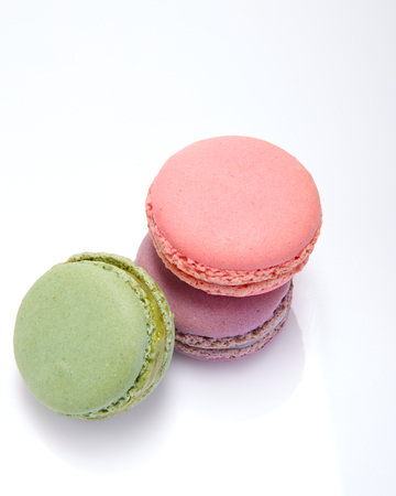 pink and green: purple, pink, green macarons