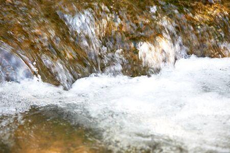 rushing water: closeup rushing water cascade Stock Photo