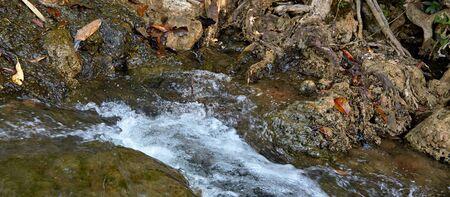 cascade: closeup rushing water cascade Stock Photo