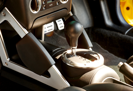 modes: The mechanism of switching modes of automatic transmission car Stock Photo