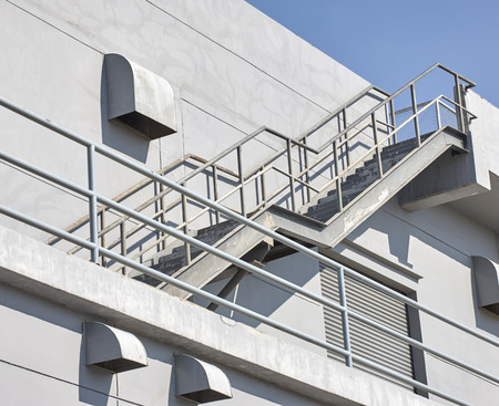 emergency stair: Industrial stairway Stock Photo