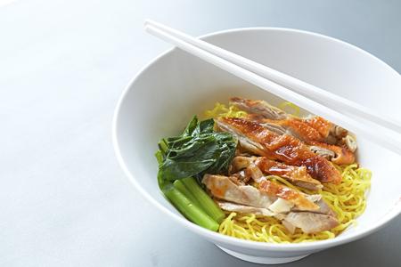 peking: Asian Peking Duck noodle soup Stock Photo