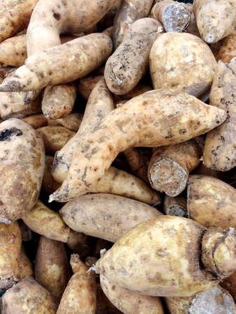 jhy: sweet potato in the market Stock Photo