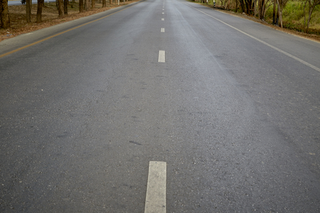 seson: asphalt road, Road Kanchanaburi in Thailand Stock Photo