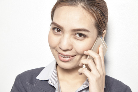 lady on phone: woman beautiful business lady on the phone calls