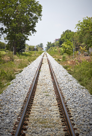 railway track: Railway track  Can be used as background Stock Photo