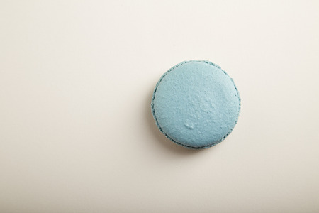 mucky: French blue macaron on  white background Stock Photo