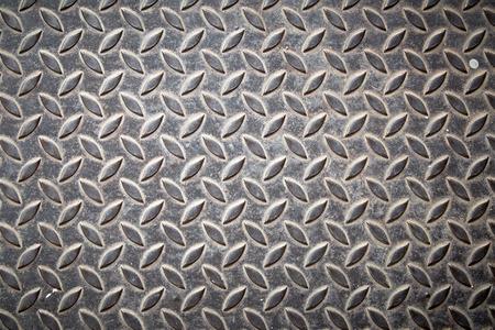 Diamond steel metal sheet useful as background