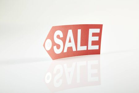 commercial event: Large Price Tag Stock Photo