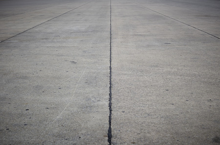 edges: empty concrete road with dark edges Stock Photo