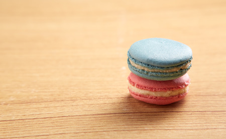 Pink And Blue Traditional French Macaron