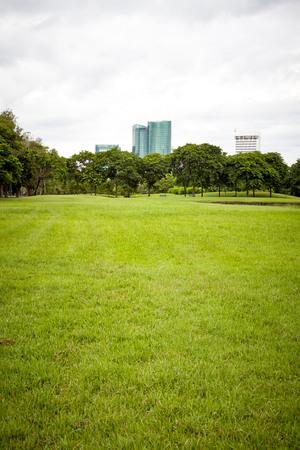 City park, City park at Vachirabenjatas Park (Rot Fai Park) Bangkok, Thailand Stock Photo
