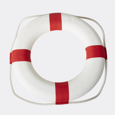 Life preserver isolated over a white background,clipping path