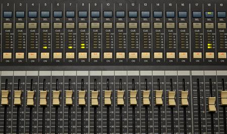 Pro mixing pult at a recording studio