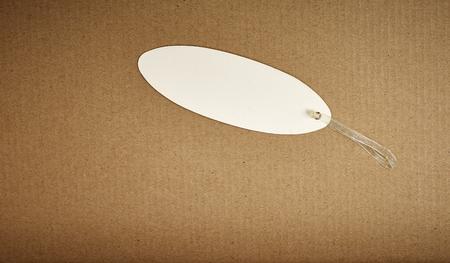 corrugated cardboard: paper label on corrugated cardboard