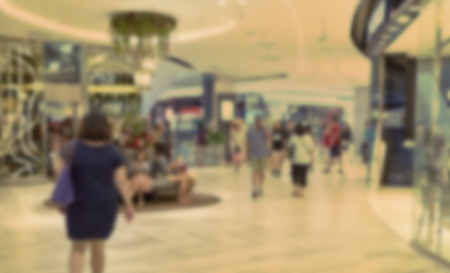 ligh: Blurred image of shopping mall and people,blurred department store ligh