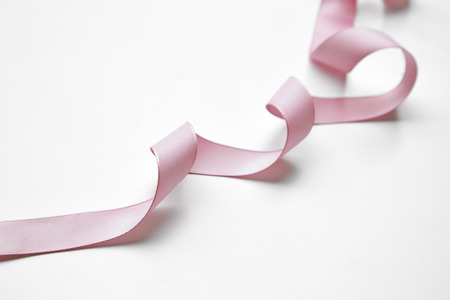 Mix Pink ribbon on a white background