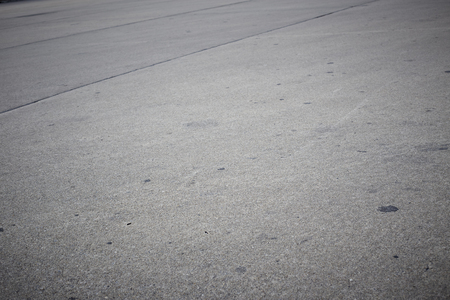 empty concrete road with dark edges Stock Photo